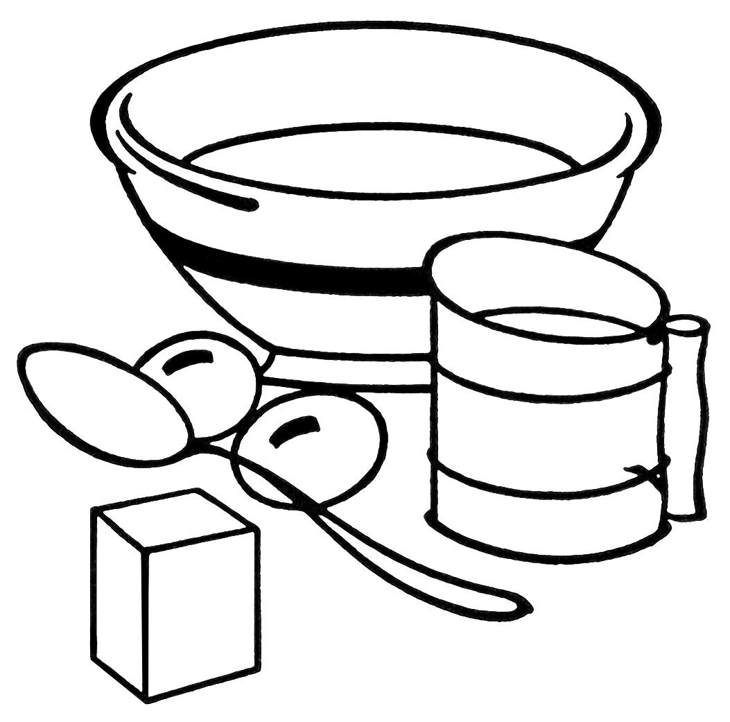 vintage kitchen clip art blackBaking Bowl Clipart