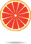 Grapefruit slice clipart