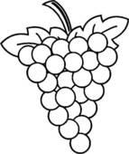 Clip Art Grapes Black And White | www.pixshark.com ...