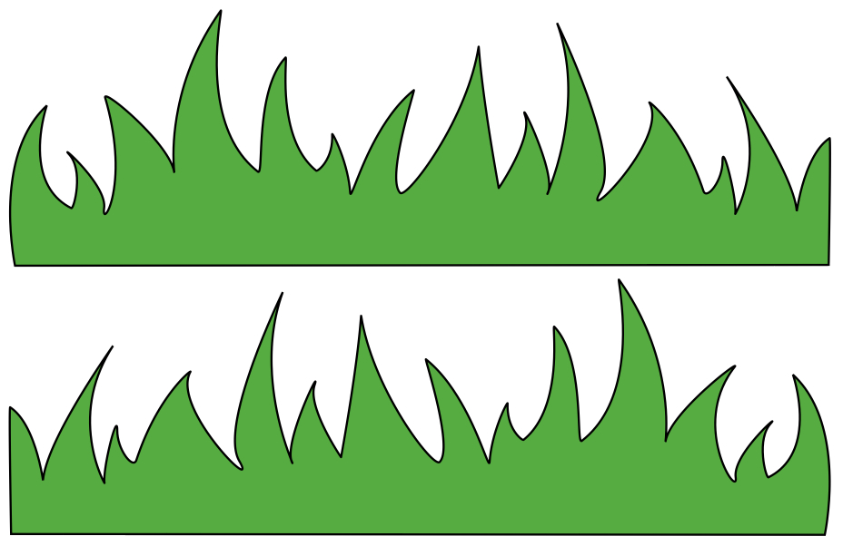 Grass Outline Border on Dr Seuss Bulletin Board Cutouts