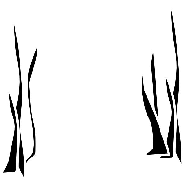 Sea grass clip art black and white