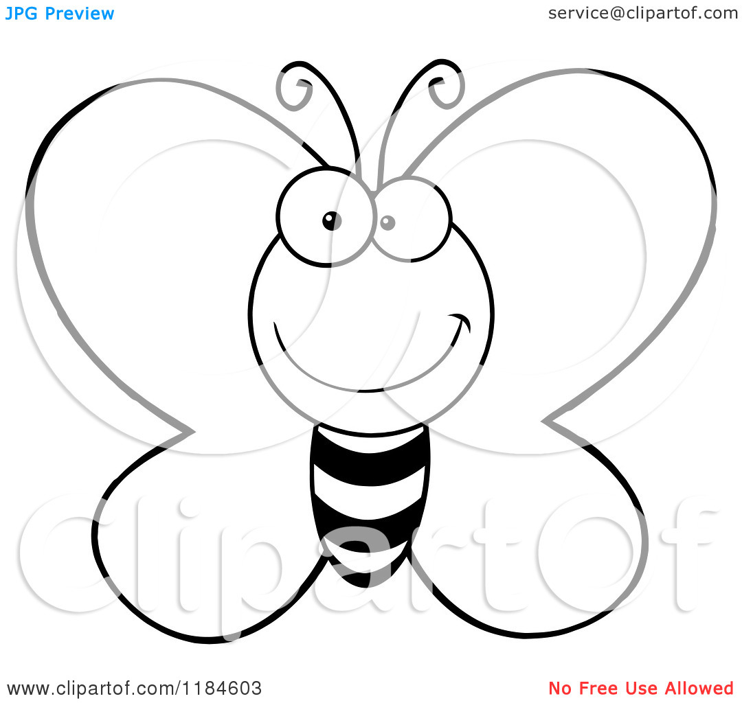 Butterfly outline cartoon. Clipart panda free images