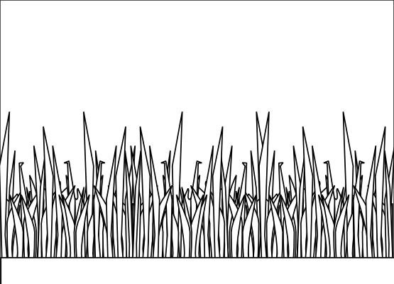Line Drawing Grass : Grass clipart black and white panda free