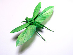 Flying Origami Grasshopper