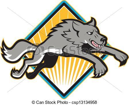 Gray Wolf Clip Art