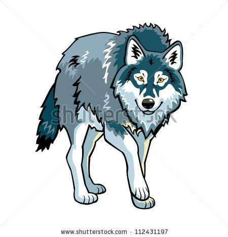 Волк серый рисунки