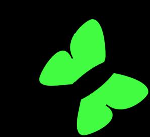Green Butterfly Clip Art