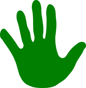 Green Handprint Clipart | Clipart Panda - Free Clipart Images
