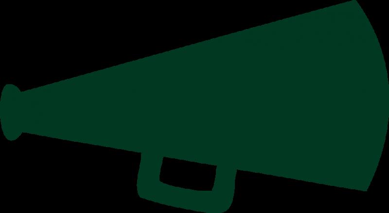 Green Cheer Megaphone Clipart | Clipart Panda - Free Clipart Images
