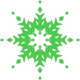 Green Snowflake Clipart Clipart Panda Free Clipart Images