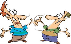 A cartoon of two men greeting clipart panda free clipart images clipart info m4hsunfo