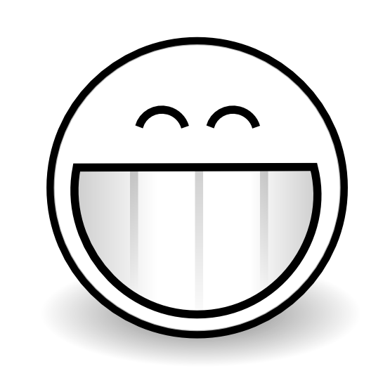 Line Drawing Of Happy Face : Grin clipart panda free images