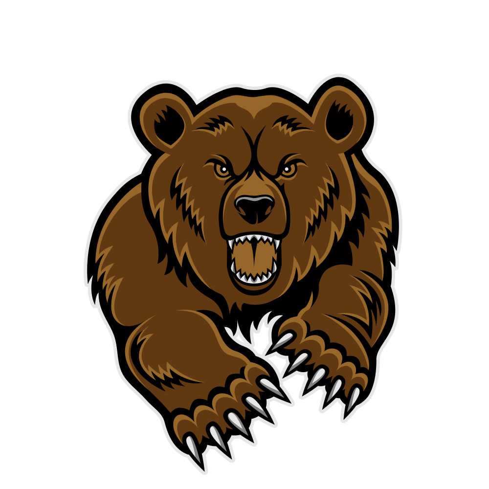 Cute grizzly bear clipart - photo#21