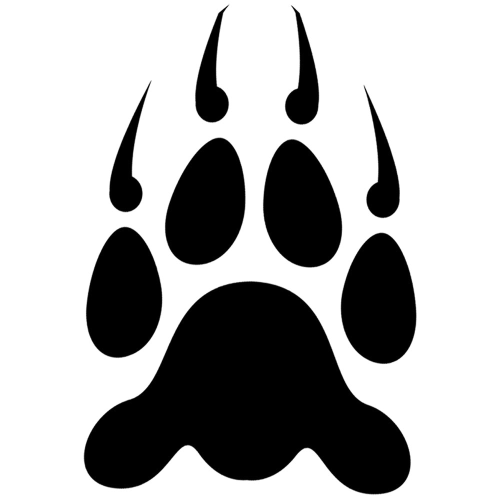 Grizzly%20bear%20paw%20print%20clipart How To Draw Love Dolphins, Dolphin  Heart Step 5 Wolf Paw