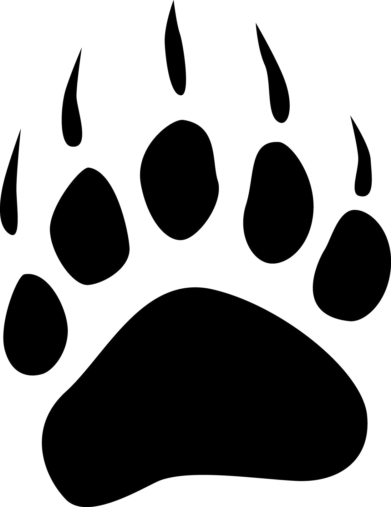 Clip Art Bear Paw Clip Art grizzly bear paw print clipart panda free images