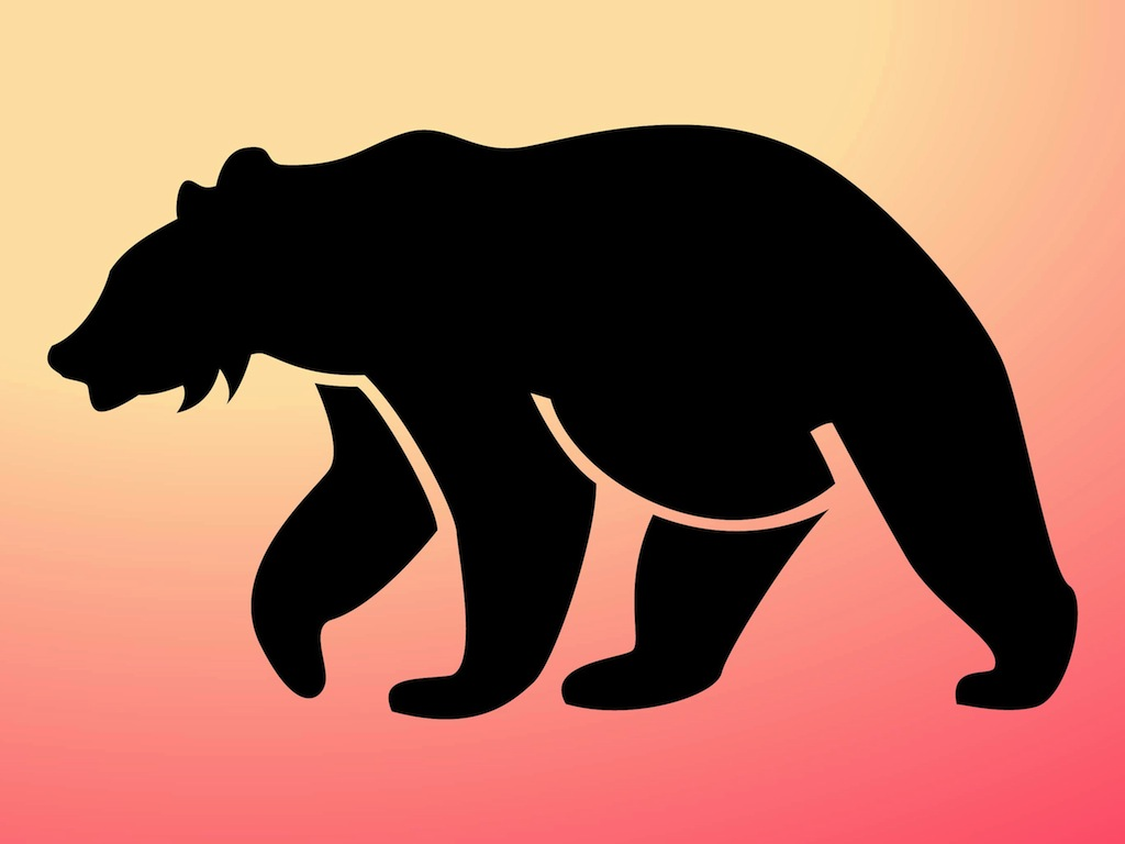 Grizzly Bear Silhouette Vector | Clipart Panda - Free ...