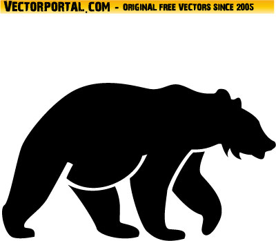 Standing Grizzly Bear Vector | www.pixshark.com - Images ...