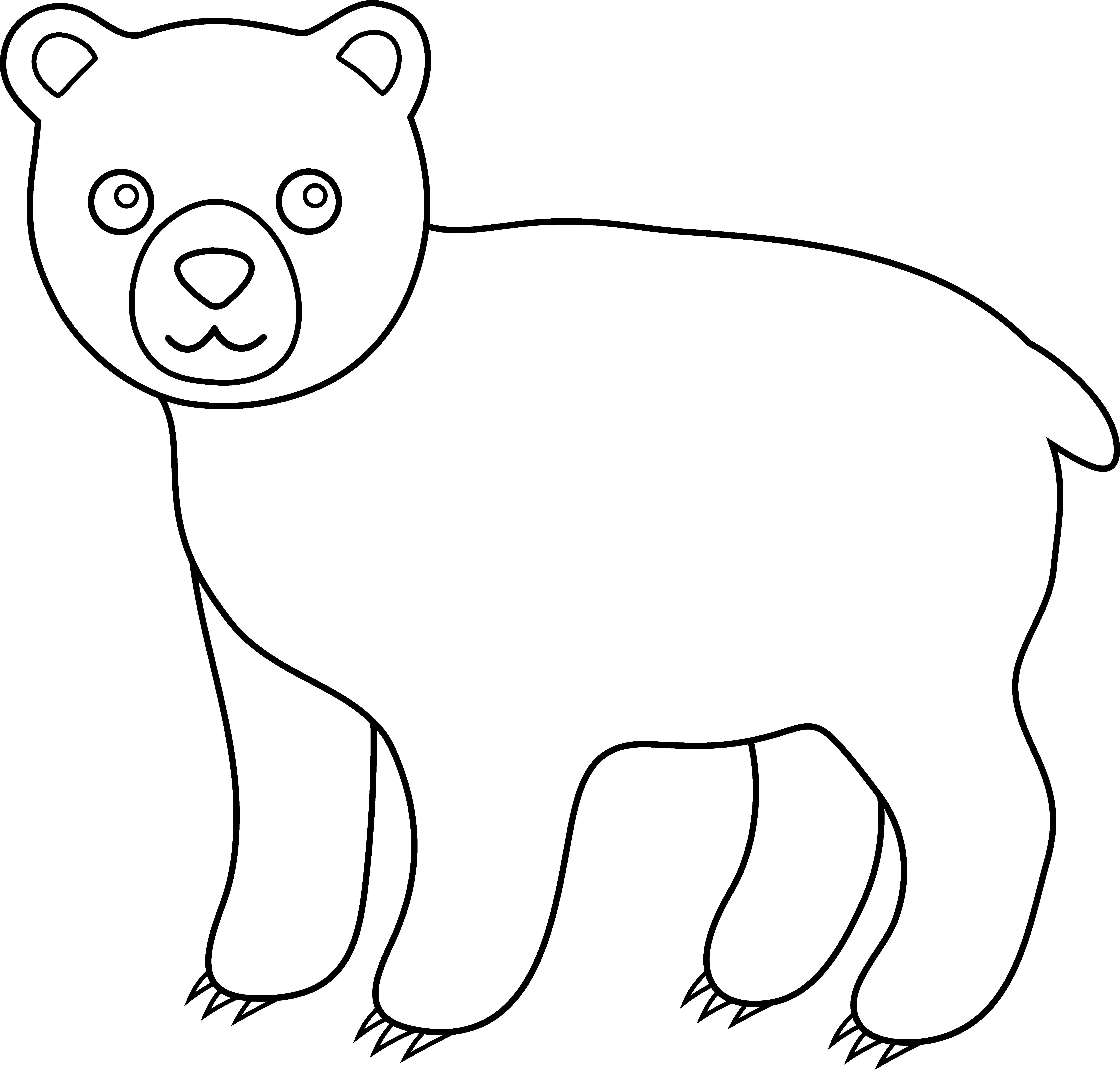 Line Drawings Of Woodland Animals : Grizzly clipart panda free images