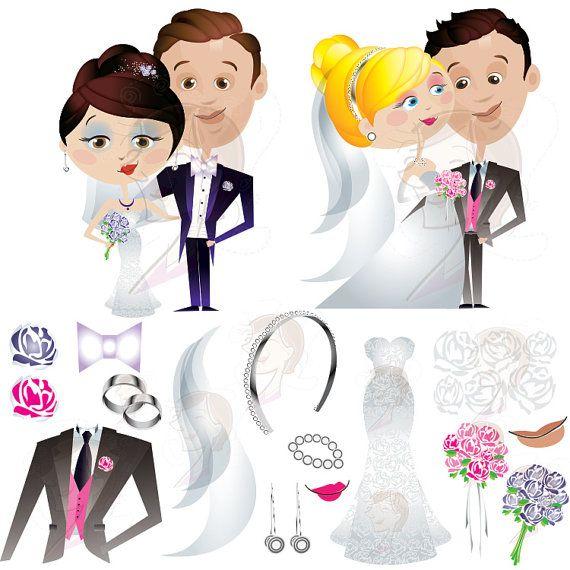 Bride Groom Clipart Cute