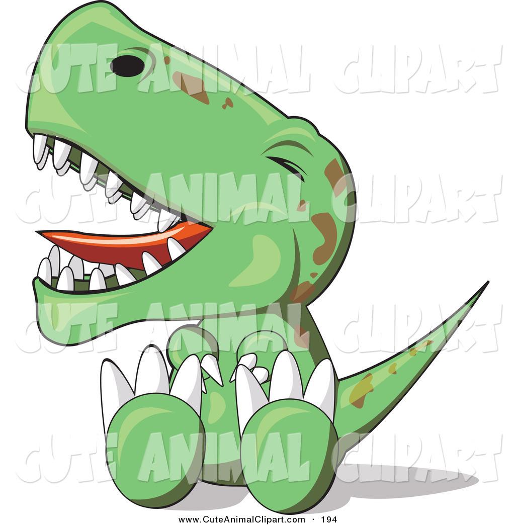 Cute baby dinosaur cartoon stock illustration. Illustration of monster -  43472995
