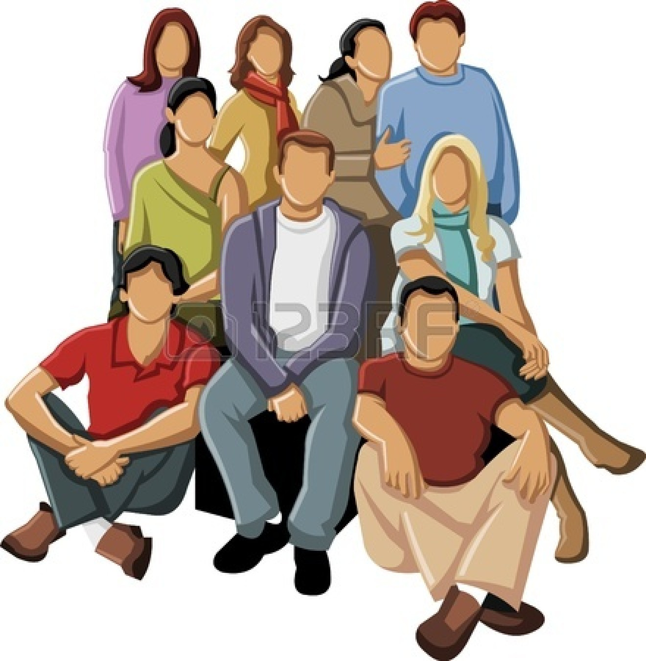 Group of business people clipart 16876016 group of young people