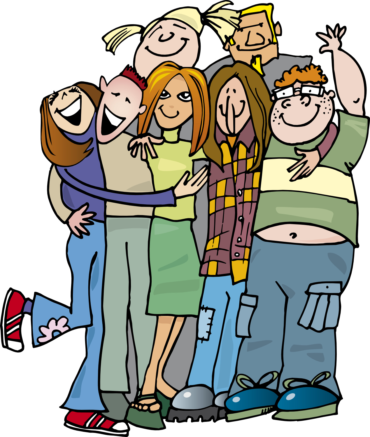 group of friends hanging out clipart clipart panda