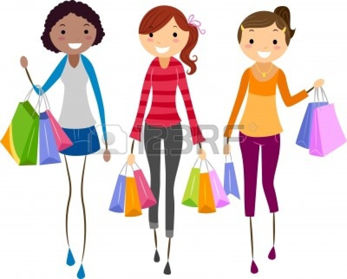 Woman Shopping Clipart group 20of 20girl 20friends