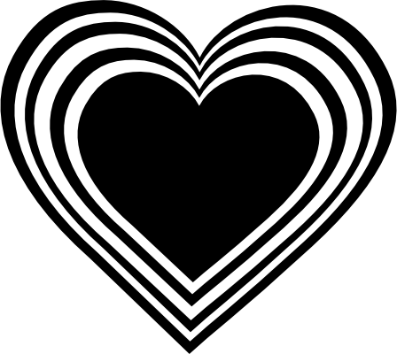 Clipart Hearts Black And White | Clipart Panda - Free ...
