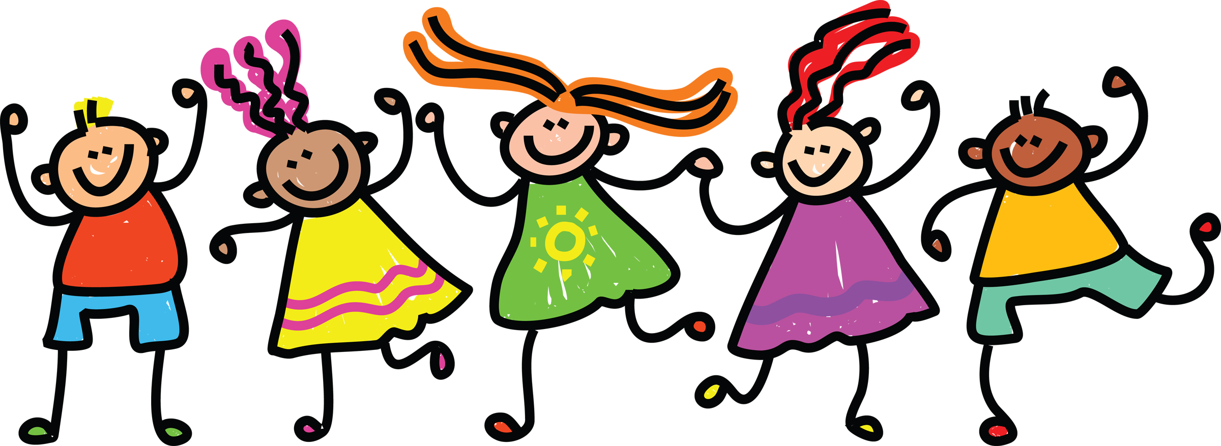 Group of kids clipart happy kids clipart