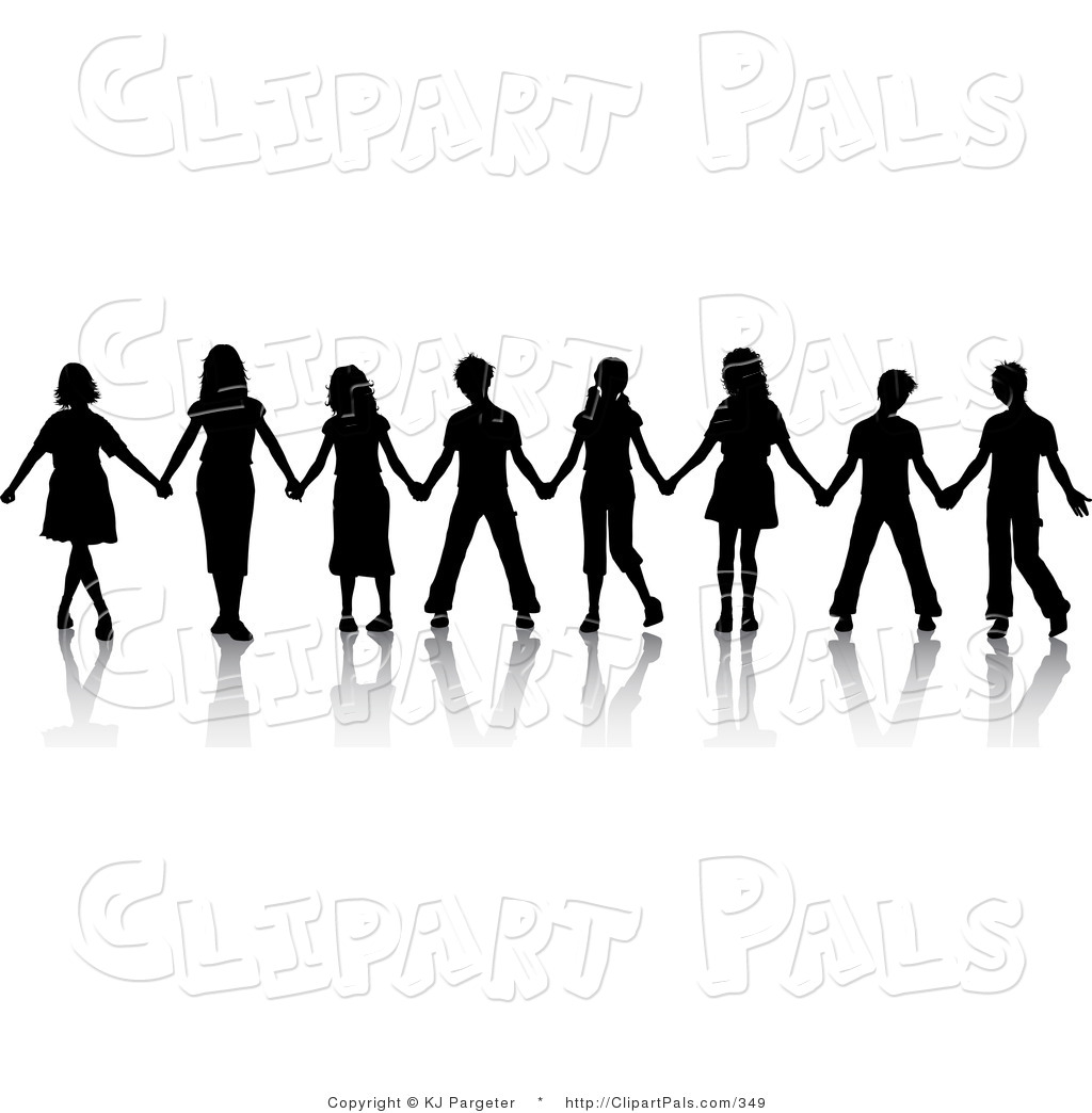 Kids Holding Hands Clipart Black And White | www.imgkid ...