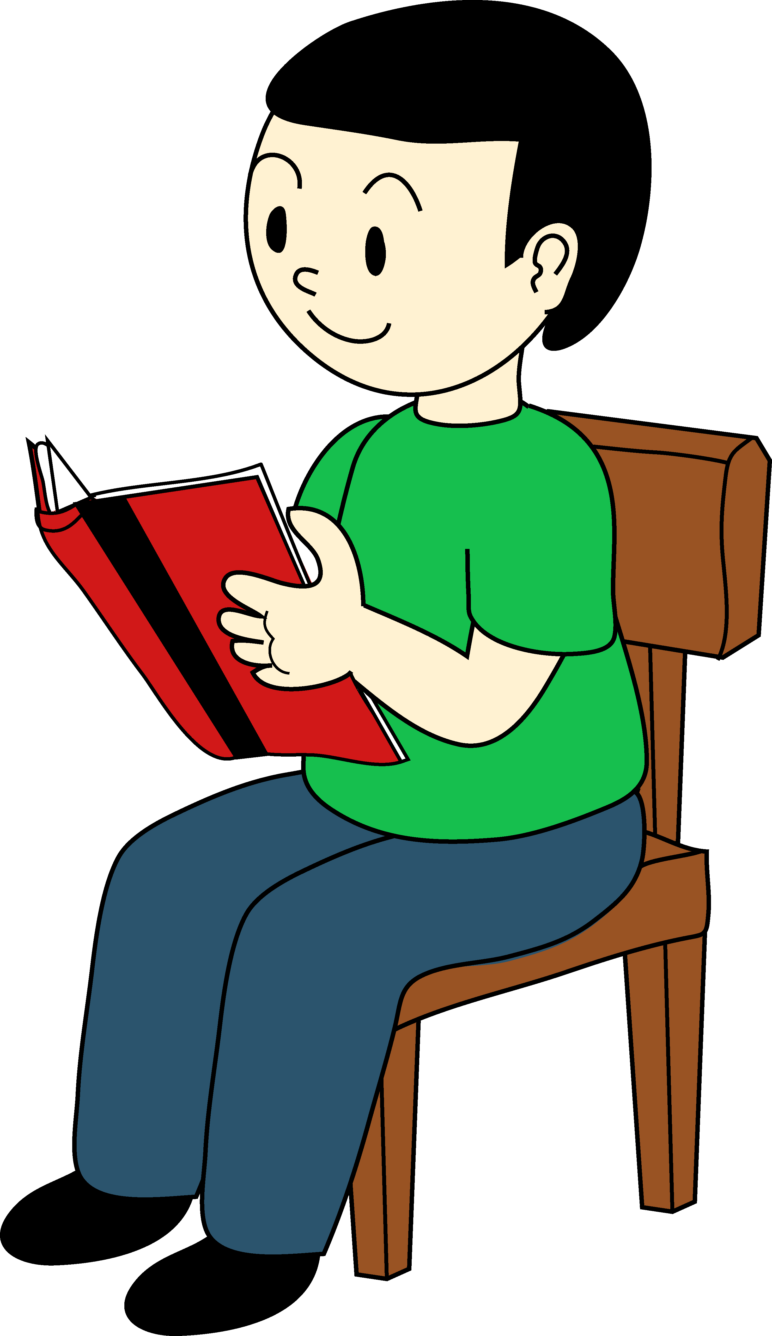 Kid Reading Clip Art SitPerson Sitting On Chair Clipart