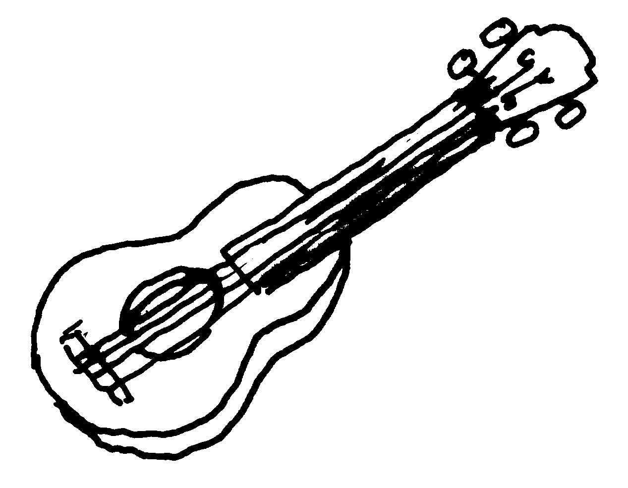 Guitar Clip Art... Music Instruments Clipart Black And White