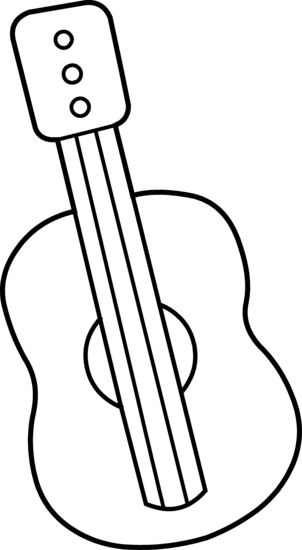 Guitar Clip Art Black And White | Clipart Panda - Free Clipart Images