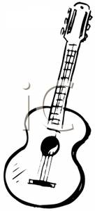Guitar Clip Art Black And White Clipart Panda Free Clipart Images