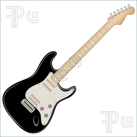 Guitar clipart black and white