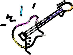 guitar 20clipart 20outline Electric Guitar Outline Clipart