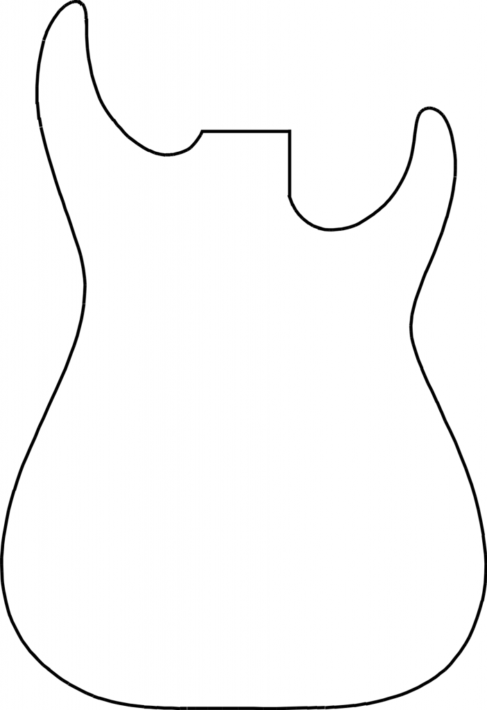 Guitar outline printable clipart panda free clipart images for Bass guitar body templates