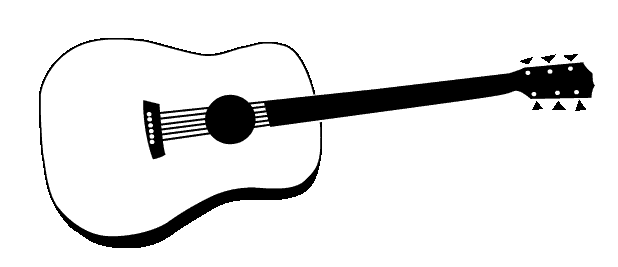 acoustic guitar clipart panda free clipart images rh clipartpanda com  acoustic guitar black and white clipart