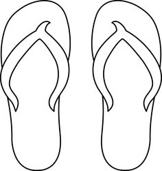 Flip Flops Clipart Black And White