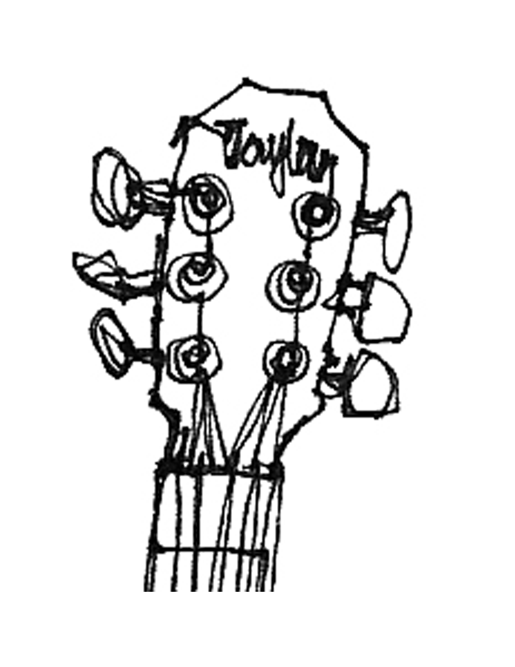 Line Drawing Maker : Guitar outline template clipart panda free images