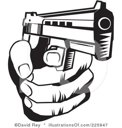 gun clipart black and white clipart panda free clipart images rh clipartpanda com handgun clip art black and white Gun Clip Art No Copyright
