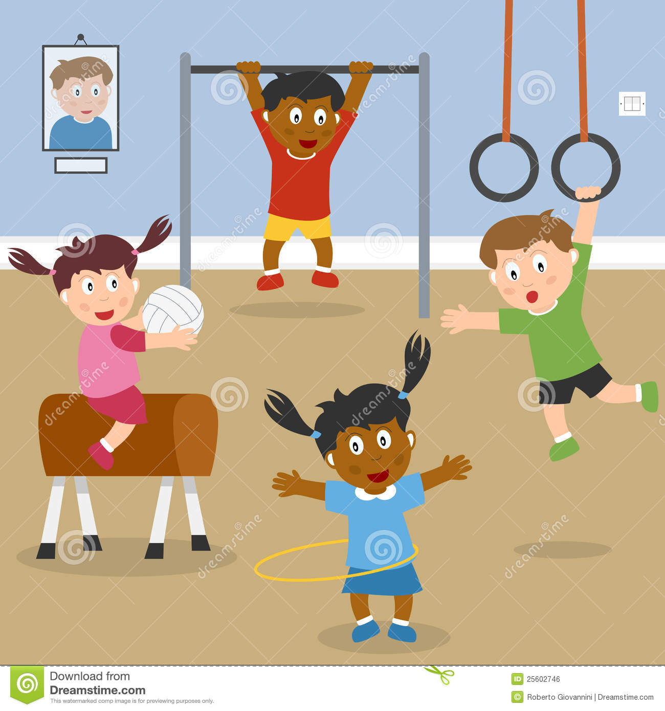kids playing in the school gym | clipart panda - free clipart images