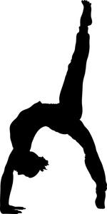 Clip Art Gymnastic Clip Art gymnastics clipart black and white panda free clip art