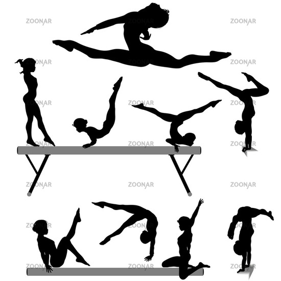 Gymnast Split Silhouette — SportsArtZoo | Silhouette, Gymnastics, Dance  silhouette