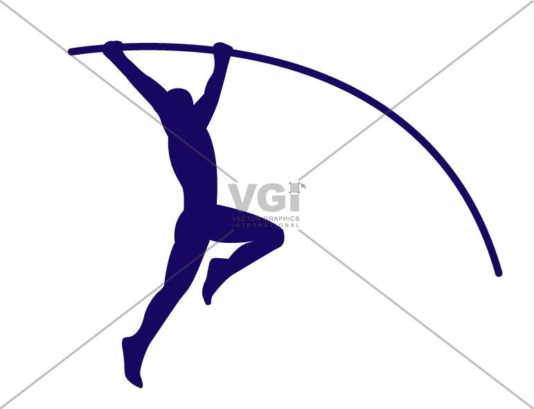 Gymnastics silhouette vault