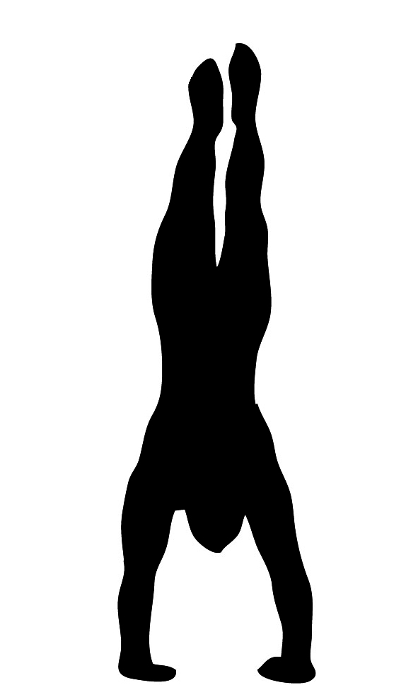 Gymnastics Handstand Silhouette | Clipart Panda - Free ...