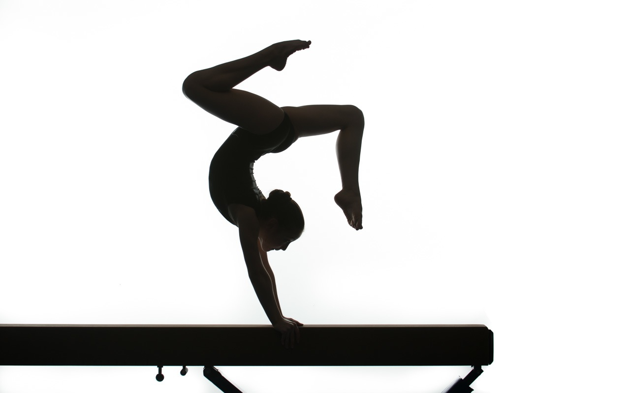 Female handstand silhouette