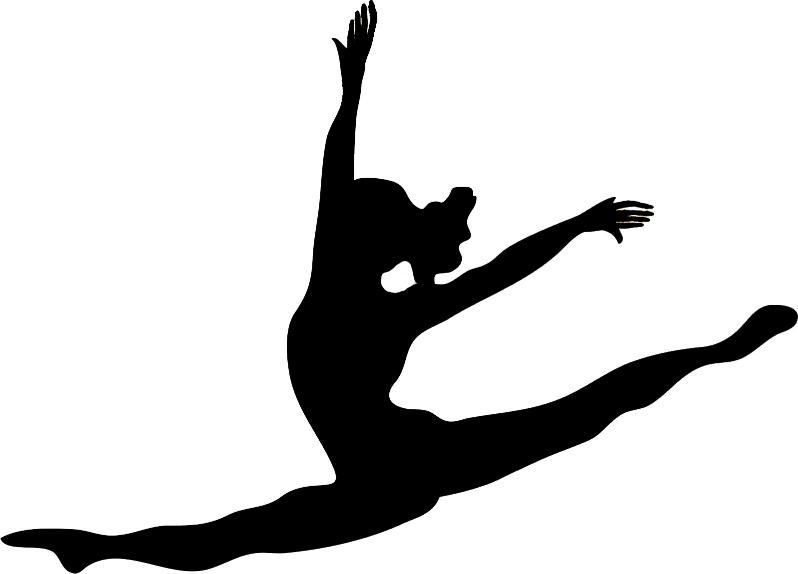 Gymnastics Handstand Silhouette Clipart Panda Free