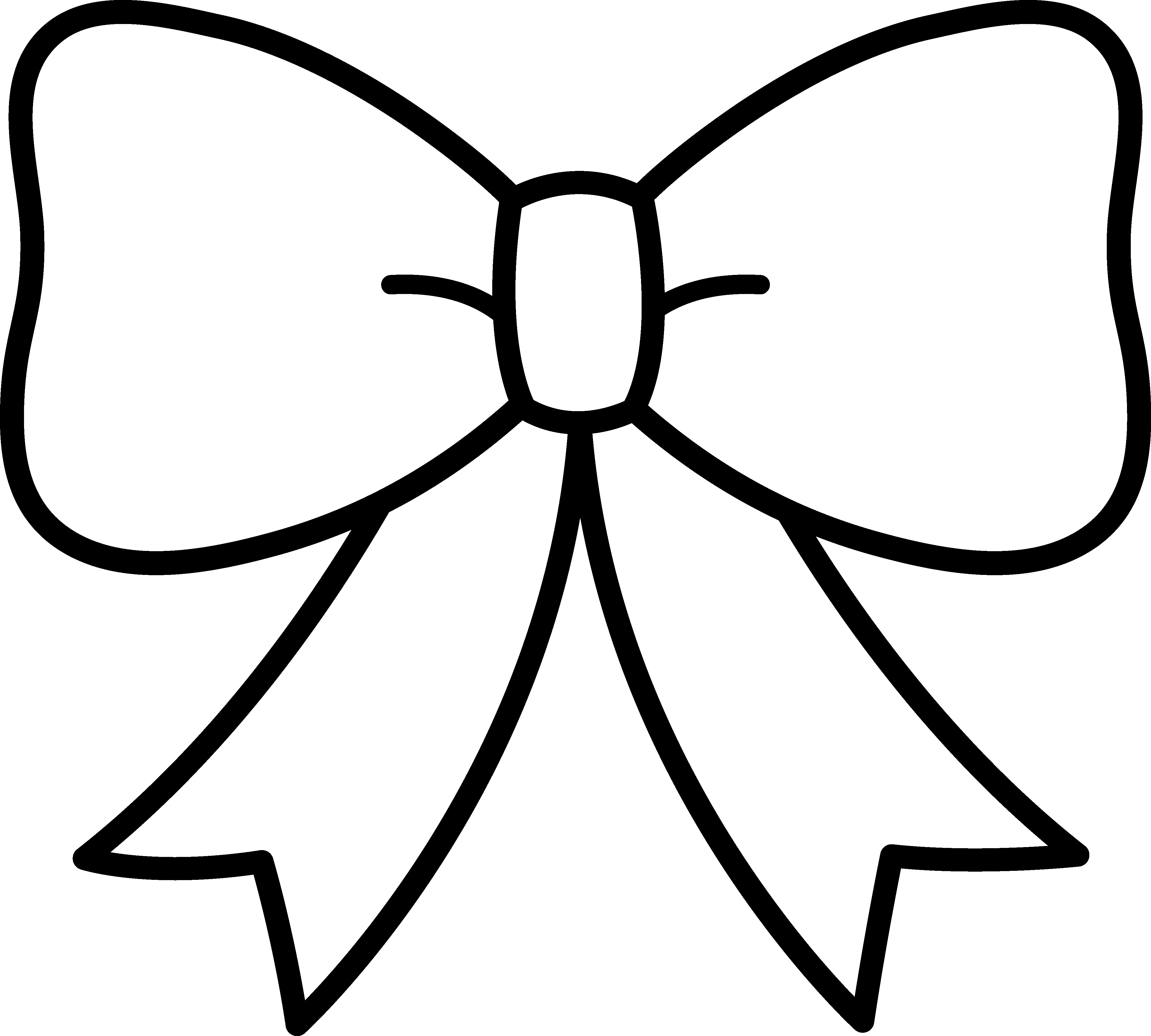 clipart bow tie outline - photo #4