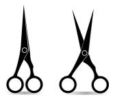 Hair Scissors Silhouette | Clipart Panda - Free Clipart Images